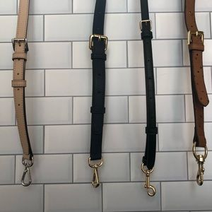 Assorted leather crossbody straps